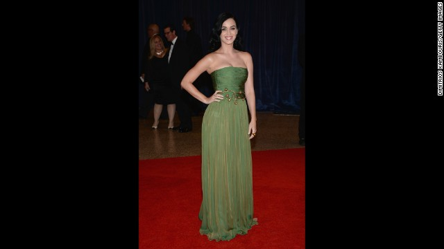 Singer Katy Perry strikes a pose.