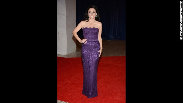 Actress Julia Louis-Dreyfus strikes a pose.