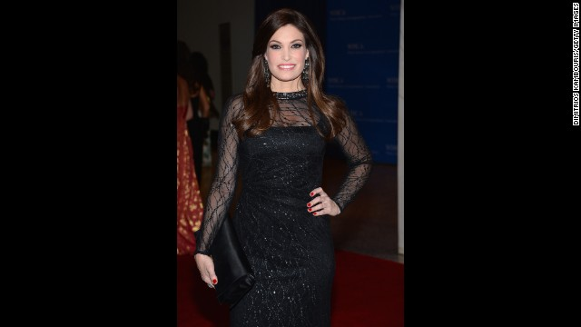 "Television personality Kimberly Guilfoyle, of Fox News' ""The Five,"" arrives."