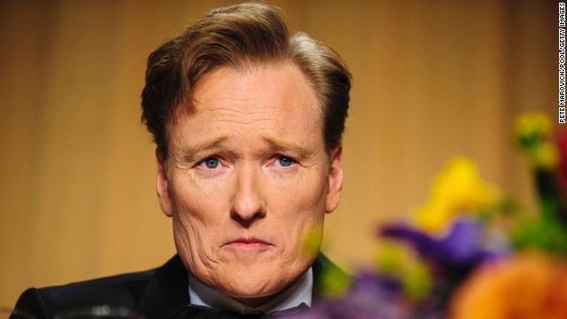 Conan O'Brien looks into the audience during the event.