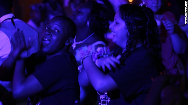 Students at the prom received T-shirts celebrating the class of 2013 and commemorating their first racially integrated prom. By the end of the night, most students had kicked off their dress shoes and popped on their T-shirts.