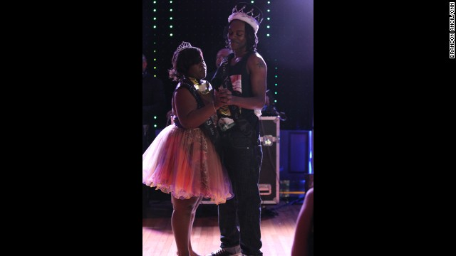 "Prom queen Mikeria Martin and king Larry Munford Jr. danced to ""I'll Be"" by Edwin McCain. Students voted for winners of categories such as ""best smile,"" ""most talented"" and ""nicest person."""