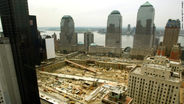 Cleanup continues on August 27, 2002, nearly a year after the attacks.