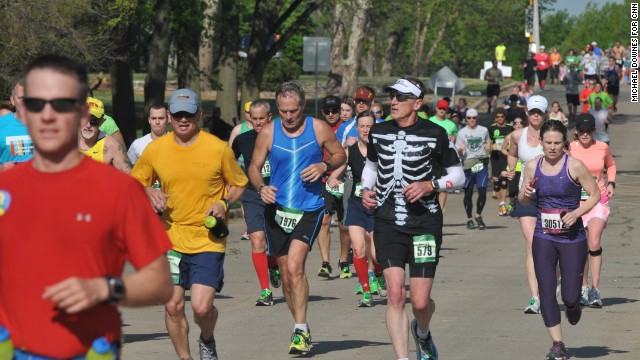 No major security incidents were reported at the marathon, which was held Sunday.