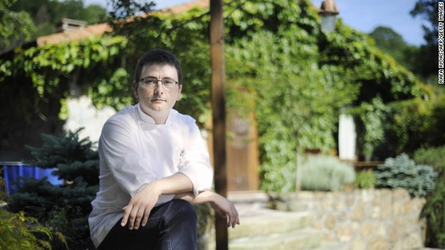 Chef Andoni Luis Aduriz is known for creating weird-looking dishes in the foodie Spanish city of San Sebastian.