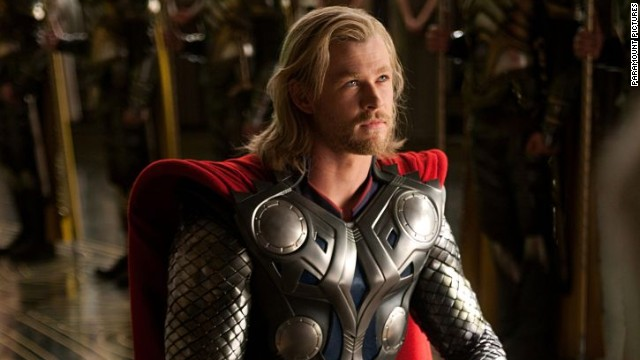 "Chris Hemsworth plays Thor in the 2011 film of the same name. The actor, who also appears as the hammer-wielding Norse god in ""The Avengers,"" will next star in ""Thor: The Dark World,"" which is due out in November."
