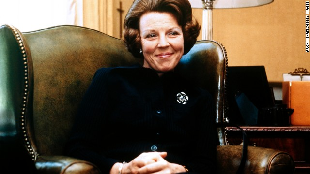 Beatrix is pictured in 1979 at Drakensteyn Castle, the year before she became queen.