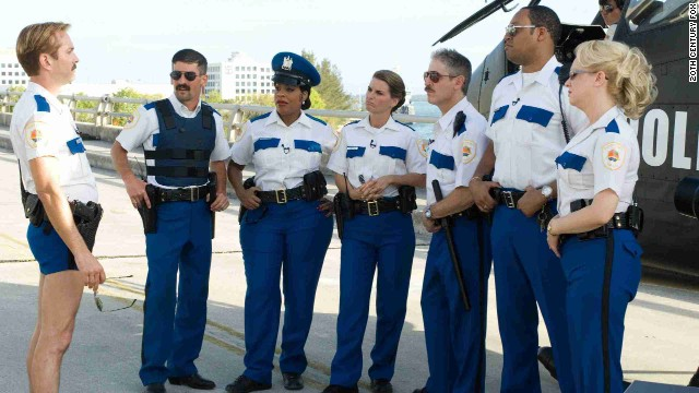 "The Comedy Central show ""Reno 911!"" was set at a police convention in Miami in the 2007 flick ""Reno 911!: Miami."""