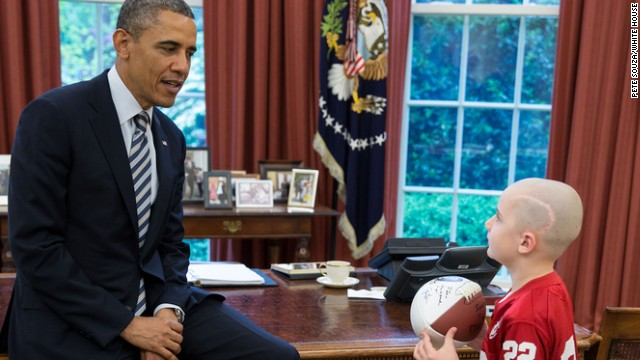 Photo: Seven-year-old football star visits White House