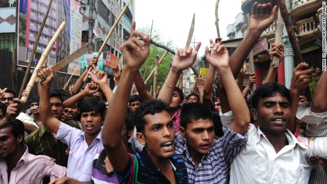 Bangladeshis march on April 30, demanding capital punishment for Rana in Savar, Bangladesh, outside the capital, Dhaka.