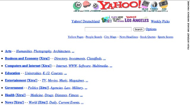 A white background with bright blue links helped <a href='http://yahoo.com' target='_blank'>yahoo.com</a> users find what they were looking for in October 1996.