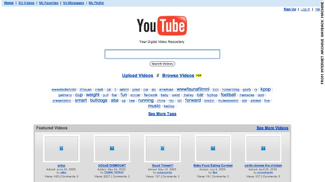 """Your digital video repository"" could have been at <a href='http://www.youtube.com' target='_blank'>Youtube.com</a> in July 2005."