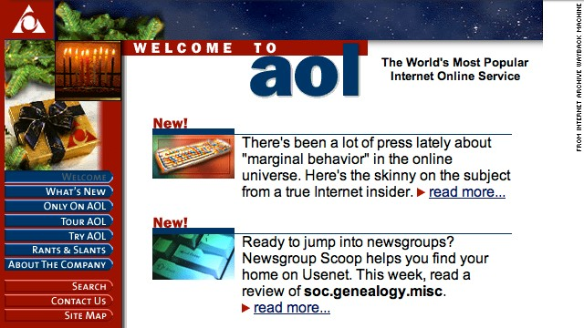 "Still getting CD-ROMs in the mail? Primary colors and an article on ""marginal behavior"" online were viewed by <a href='http://aol.com' target='_blank'>aol.com</a> visitors in December 1996."