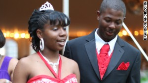 Mareshia Rucker and Arkel Bennett attended Wilcox County High School students\' first integrated prom.