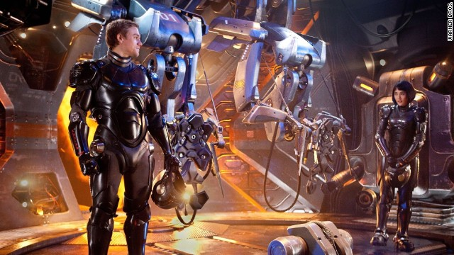 Robots take on monsters in the film