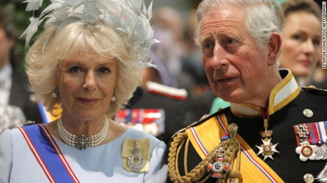Prince Charles, Prince of Wales and Camilla, Duchess of Cornwall, attend the investiture ceremony.