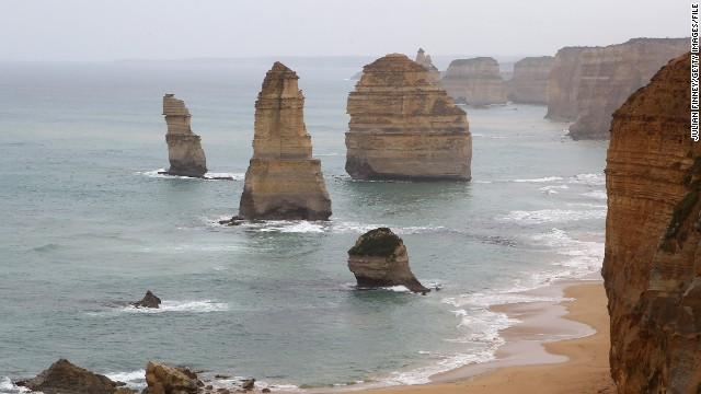 The dramatic Twelve Apostles are just 90 minutes by car from Cape Otway. The rock formations attract thousands of visitors every year but are slowly crumbling into the sea.