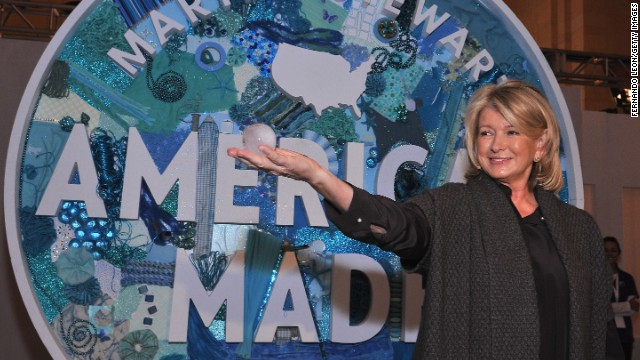 Martha Stewart demonstrates tips during her American Made Program last year in New York City's Grand Central Terminal.