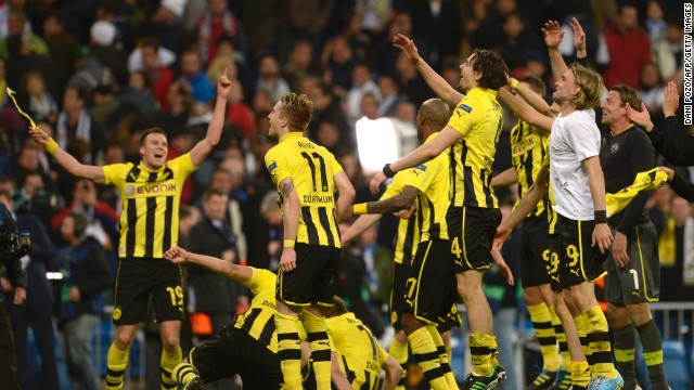 Dortmund will face either Barcelona or Bayern Munich at Wembley on May 25. Bayern, which has already won the Bundesliga title, will take a 4-0 lead into the second leg at the Camp No Wednesday.