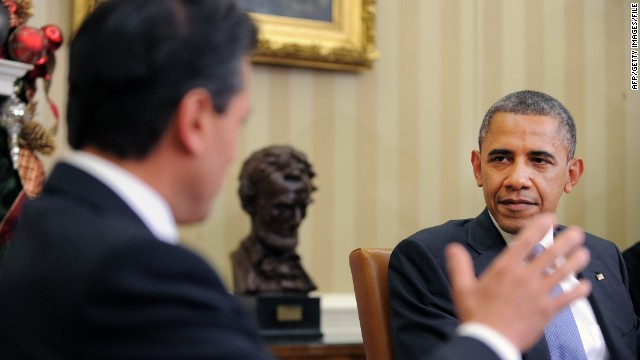 President Obama met with Mexican President Peña Nieto at the White House shortly before Peña Nieto took office in December.