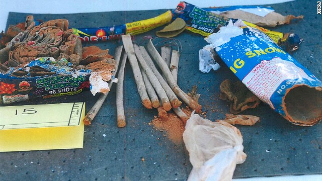 "Phillipos, Tazhayakov and Kadyrbayev are accused of removing items from Tsarnaev's dorm room after the April 15 bombings. The items they took included a backpack containing fireworks that had been ""opened and emptied of powder,"" according to the affidavit."