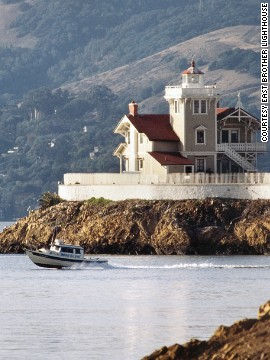 San Francisco's 19th-century East Brother Lighthouse sits on an isolated land bank overlooking the glittering city and spectacular Mount Tamalpais. Today, guests can stay in the station's pretty guesthouse.