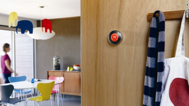 The <a href='http://www.nest.com/' target='_blank'>Nest thermostat</a> is another device that brings together elegant design with super-smart technology. It has the ability to remember, to learn about your lifestyle and adjust the temperature of your environment accordingly. Designed by former king of the iPod Tony Fadell, the thermostat turns down while you are away and can be controlled remotely via your smartphone. It looks cool too.