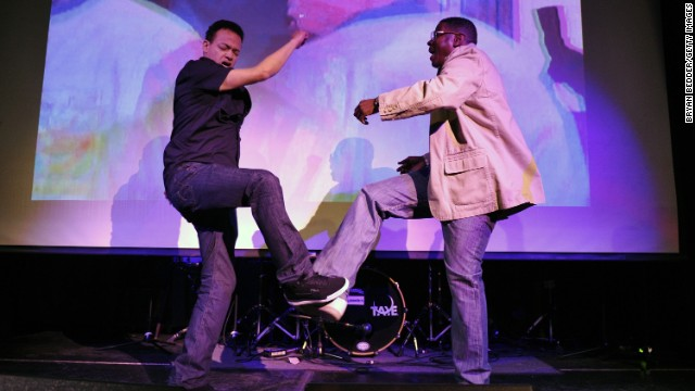 Christopher 'Kid' Reid and Christopher 'Play' Martin of Kid 'N Play had us all trying to do the kick step.