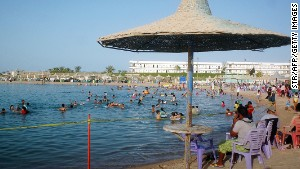 Tourists in Hurghada were advised this week to stay in their hotels.