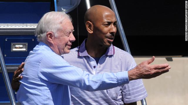 Former President Jimmy Carter <a href='http://www.cnn.com/2010/WORLD/asiapcf/08/26/north.korea.carter/index.html'>negotiated the release</a> of <strong>Aijalon Gomes</strong>, who was detained in 2010 after crossing into North Korea illegally from China. Analysts say high-level visits give Pyongyang a propaganda boost and a way to save face when it releases a prisoner.