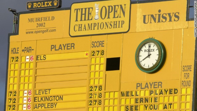 The famous yellow scorecard on the 18th at Muirfield will also be complemented by LED scoreboards on the seventh, 11th, 16th and 17th holes.