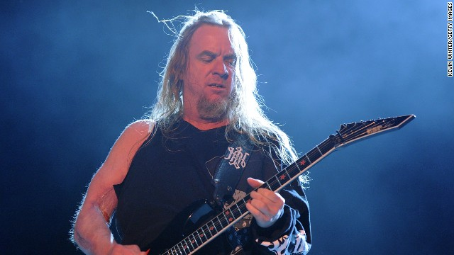 Grammy-winning guitarist a href='http://www.cnn.com/2013/05/02/showbiz/california-jeff-hanneman-obit/index.html'Jeff Hanneman/a, a first member of the complicated steel rope Slayer, died on May 2 of liver failure. He was 49.
