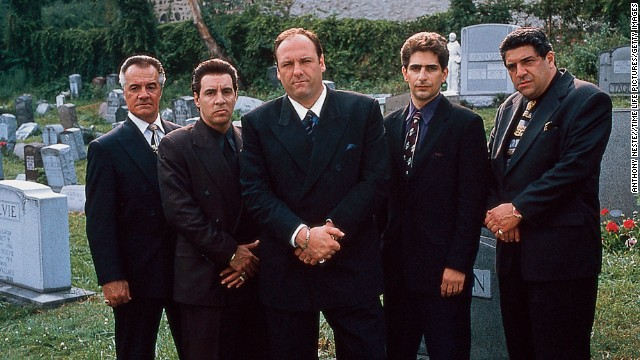 "Quite possibly the biggest anticlimax in TV history, when Tony Soprano met his family in a restaurant, looked up and then, with Journey's ""Don't Stop Believin' "" playing in the background, fade to black. ""Sopranos"" fans are still debating that ending."