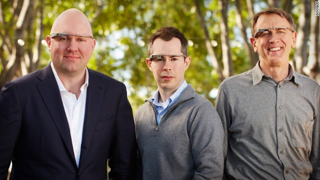 Tech investors Marc Andreessen, Bill Maris and John Doerr model Google Glass in this image provided by the company. What kind of fashion statement are they making? One thing is certain: They are also featured in the Tumblr blog.