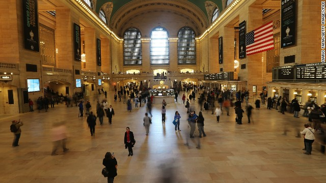 About 700,000 people pass through Grand Central each day.