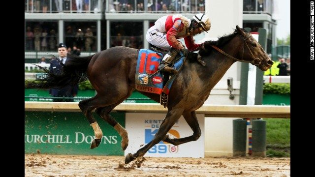 Joel Rosario and Orb on their way to winning the derby.