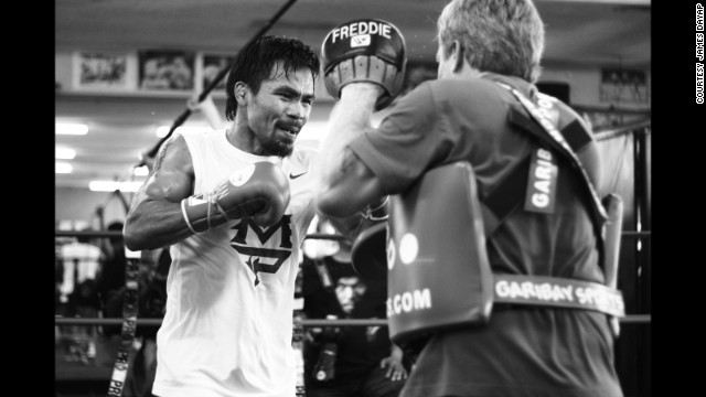 Pacquiao in training