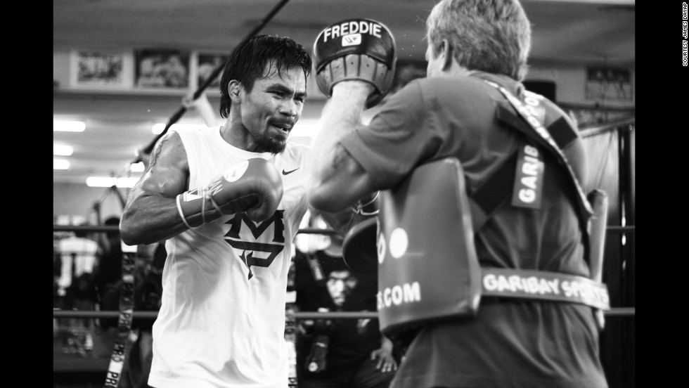 In these rarely seen photos, taken by Manny Pacquiao's personal photographer James Dayap, we take a glimpse at the boxer's training regimen for the Timothy Bradley fight in June 2012, which would become one of the most controversial bouts of his career.