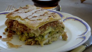 Bourdain tries a Moroccan pigeon pie