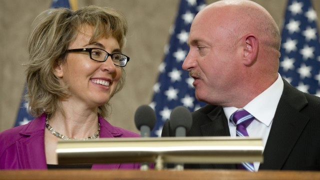 Former Arizona Rep. Gabrielle Giffords and her husband, astronaut Mark Kelly, will speak at the commencement ceremony at Bard College in New York state on May 25.