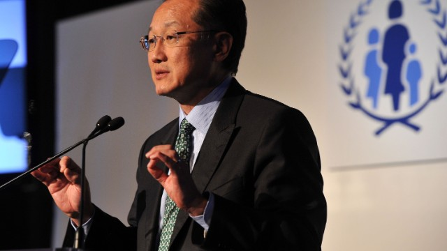 Jim Yong Kim, the president of The World Bank Group, spoke at Northeastern University on May 3. Here, he spoke during the U.N. Every Woman Every Child Dinner in 2012.