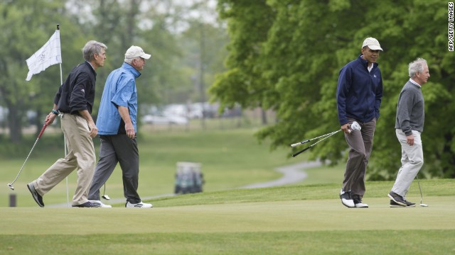Chambliss shoots hole-in-one during Obama outreach round