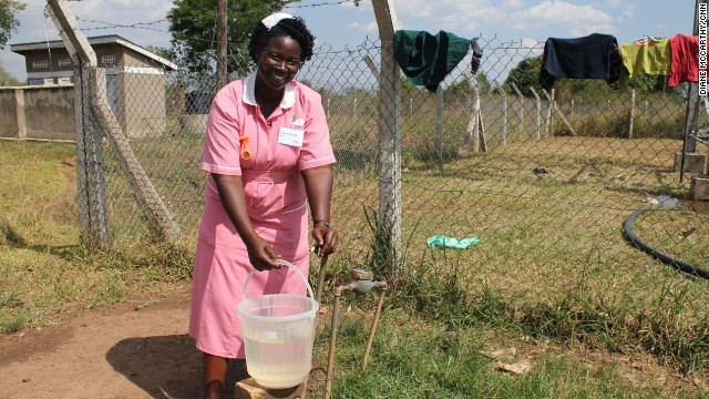 Like in many clinics across rural parts of Africa, the Tiriri center is lacking several necessary resources, including adequate access to water. Madudu says she has to fetch water from outside the clinic to be able to perform her duties.