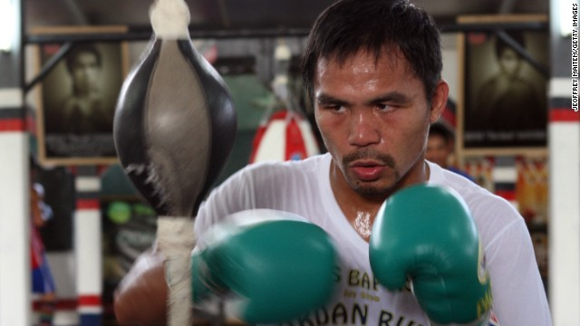 Pacquiao outside the ring