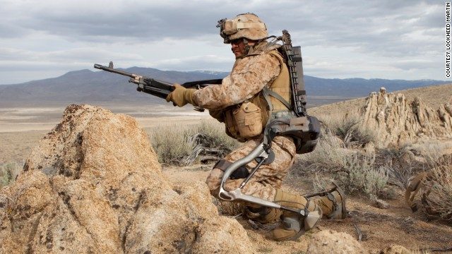 Lockheed Martin's HULC exoskeleton is designed to allow soldiers to carry superhuman loads.