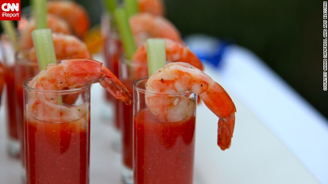 """When doing a theme party, it's easy to get tempted by every food idea,"" said Campbell. ""Focus on what will taste good and be filling alongside all of those cocktails."" Her 1920s progressive dinner included Caesar salad, shrimp cocktails and grilled rib-eyes."