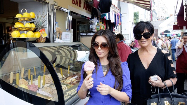 Would Kim Kardashian sneeze at a $20 gelato? (File photo)