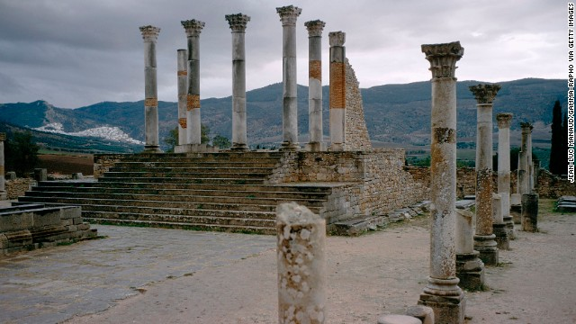 The Roman ruins of Volubilis are seen near Meknes on October 24, 2011.
