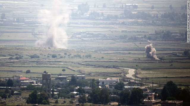 Multiple explosions hit a Syrian village near the Israeli border on May 6.