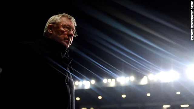 Alex Ferguson walks out during the match between Aston Villa and Manchester United on February 10, 2010 in Birmingham, England.